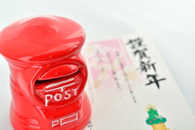 年賀状とポスト