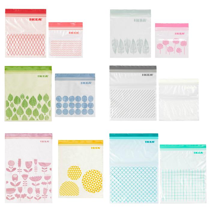 プラスチック袋 ジップバッグ IKEA