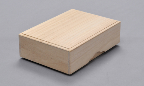 桐製ハガキ箱