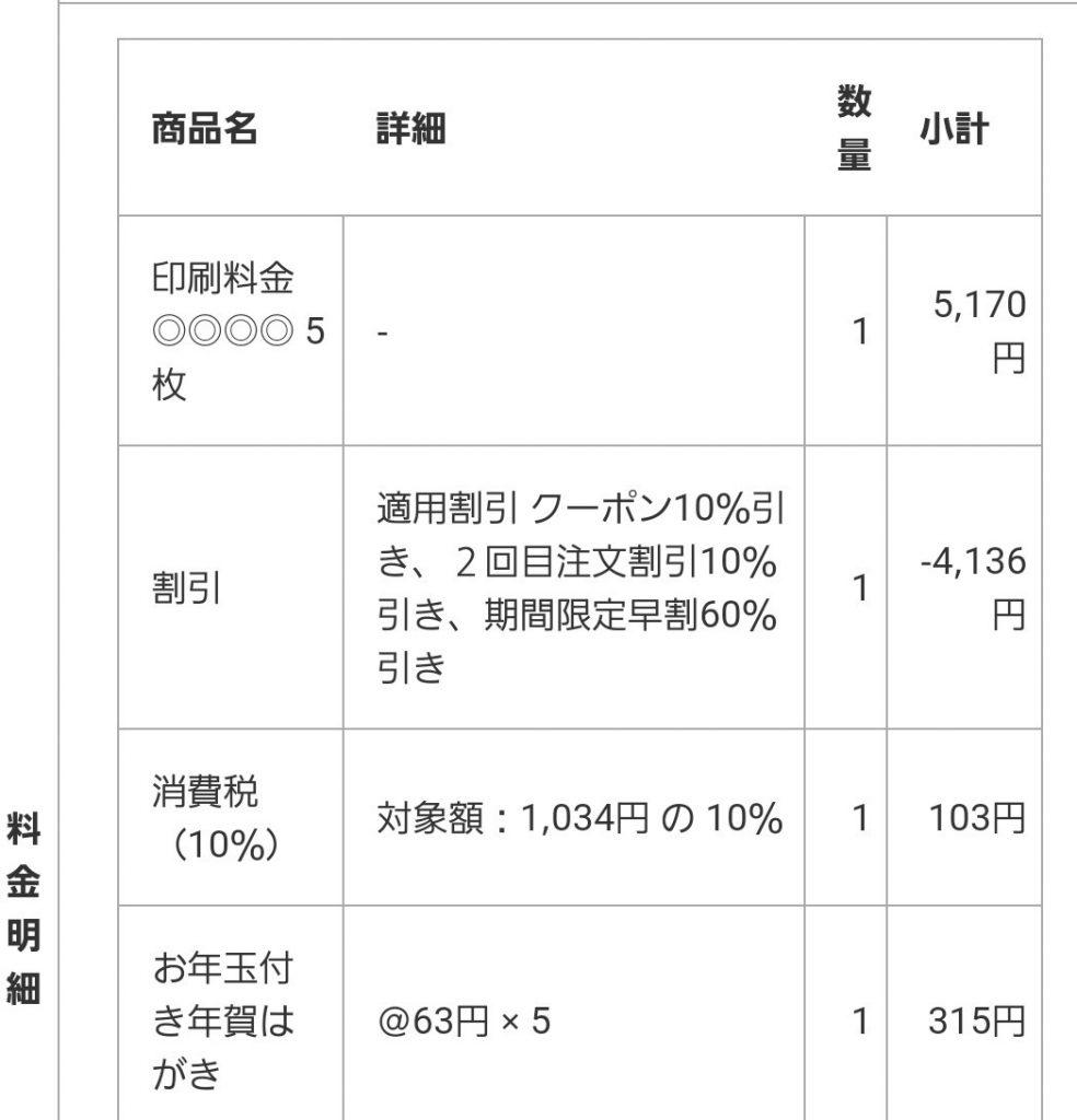 京都の四季注文詳細画面