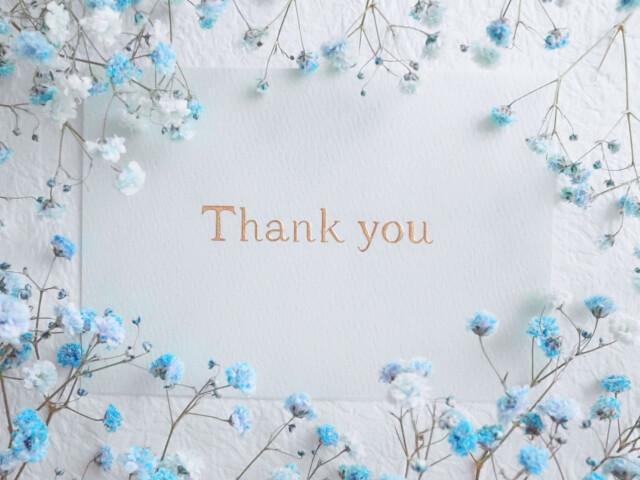 Thank youの英文字