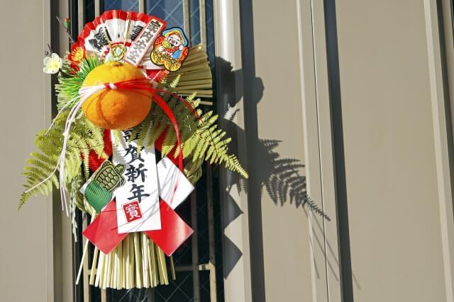 玄関に掛けられたお正月飾り
